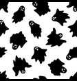 set of halloween ghosts on white background vector image vector image