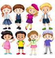 set of international kids vector image vector image