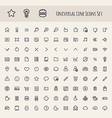 Set of Line Universal Icons vector image vector image