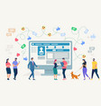 social network site vector image