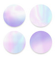 soft fluid holographicgradient round frames set vector image