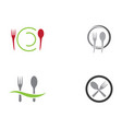 spoon and fork logo template vector image