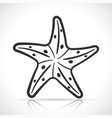 starfish icon design on white background vector image