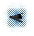 Stealth bomber icon comics style vector image vector image
