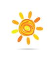 sun cartoon color vector image vector image