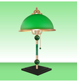 table lamp bronze glass green vector image