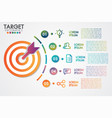 target infographics 5 steps or options business vector image vector image