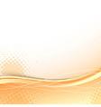 Transparent orange wave background template vector image vector image