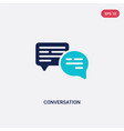two color conversation icon from blogger and vector image vector image