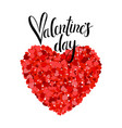 valentines day lettering greeting card on white vector image vector image