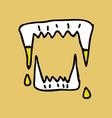 vampires teeth icon isolated art vector image vector image