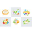 vitamins original design logo collection healthy vector image vector image