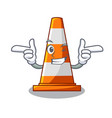 wink traffic cone on made in cartoon vector image