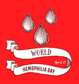 World hemophilia day poster vector image
