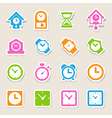 Clocks and time icons set vector image