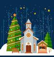 christmas and new year card christmas banner vector image