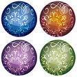 set of four multicolored decorative Christmas vector image