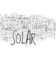 a curious tale about solar panels text word cloud vector image vector image