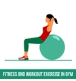 Aerobic icons Ball exercise vector image vector image