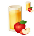 apple juice detailed icon isolated on vector image vector image