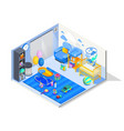 baby room isometric composition vector image