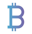 bitcoin symbol commerce technology icon vector image vector image