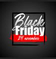black friday flat designed banner vector image vector image