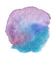 blue purple watercolor stain isolated vector image