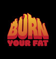 burn your fat placard with inscription vector image