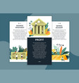 business investment and profit savings account web vector image