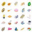 caff icons set isometric style vector image vector image