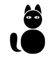 cat icon black color flat style simple image vector image vector image
