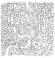 city district locality area sketch city map hand vector image