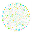 confetti stars fireworks sphere vector image vector image