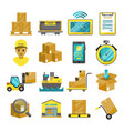 container boxes trucks ships and other cargo vector image vector image