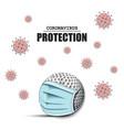 coronavirus sign and golf ball with mask