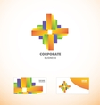 Corporate business abstract logo vector image vector image