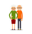 Couple older people two aged people stand