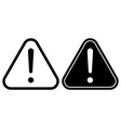Danger warning attention hazard sign icon vector image vector image