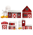 different designs of barns and silo vector image vector image
