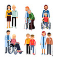 disabled people group or hospital patients and vector image vector image
