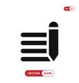 edit text icon vector image vector image