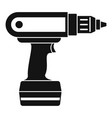 electric screwdriver drill icon simple vector image vector image