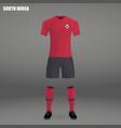football kit of south korea 2018 vector image