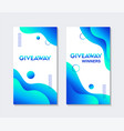 giveaway templates for social media contest vector image vector image