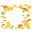 gold coin explosion raining golden coins cash vector image vector image