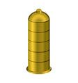 Golden condom Precious metal contraceptive vector image vector image