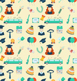 Graduation Elements Seamless Pattern Background vector image vector image