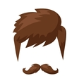 Hairstyles beard and hair face cut mask flat vector image vector image