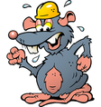 Hand-drawn of an angry upset Rat with yellow vector image vector image